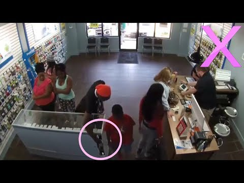 Watch As Whole Family Steals Phones From Store! MUST WATCH!!!