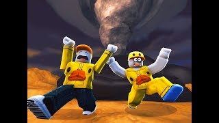RUN FROM THE TORNADO! (Roblox Disaster Dome Funny Moments)