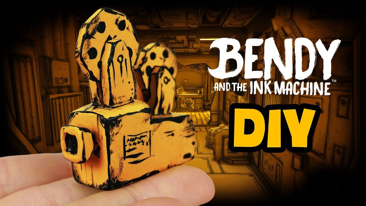 Bendy and the Ink Machine Miniature Projector - DIY Polymer Clay Tutorial