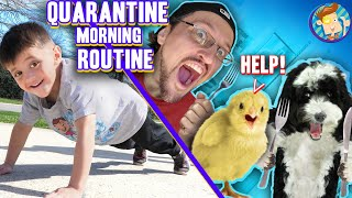 MORNING ROUTINE during CORONA VIRUS Quarantine! (FV Family Fitness, Food & School Vlog)