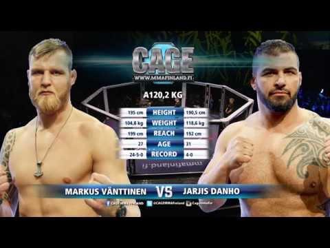 CAGE 29 Marcus Vänttinen vs Jarjis Danho