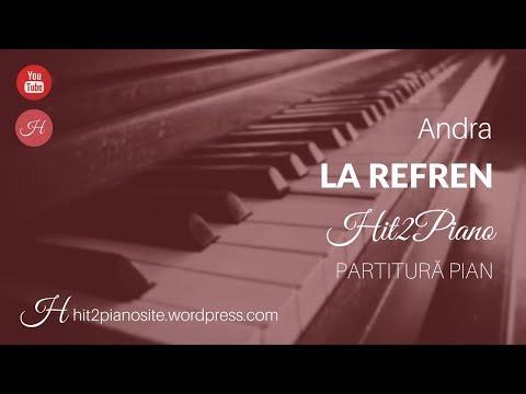 Andra - La refren (partitură pian) - Hit2Piano