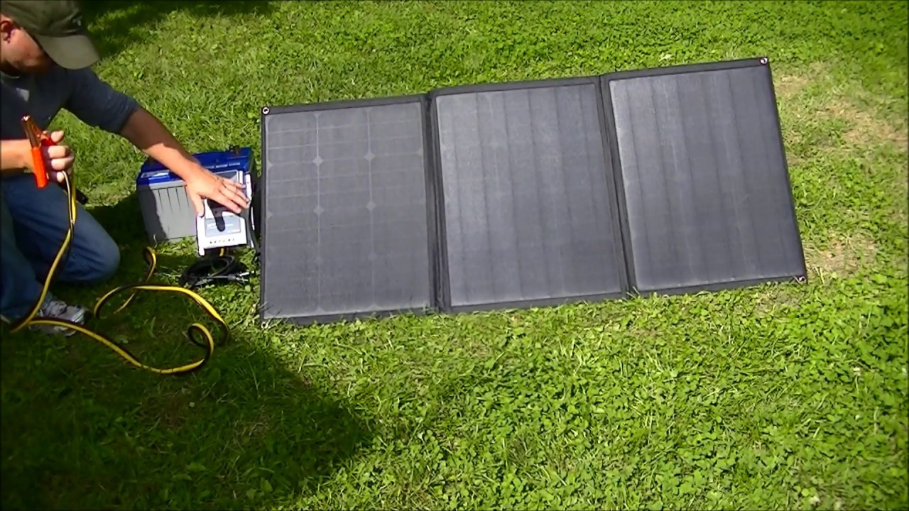 Lensun 100w 12v Ultralight Folding Solar Panel Youtube