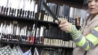 Japan. 包丁、ナイフ。Японские ножи..неожиданно.