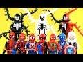Venom-Carnage Hybrid Spider-Pool Anti-Venom Spider-Gwen Captain Spider Unofficial LEGO Minifigures