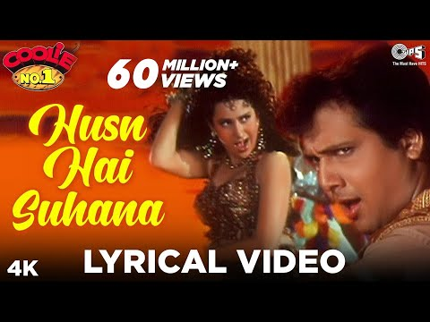 Husn Hai Suhana Lyrical Video - Coolie No. 1 | Govinda & Karisma Kapoor | Abhijeet, Chandana Dixit