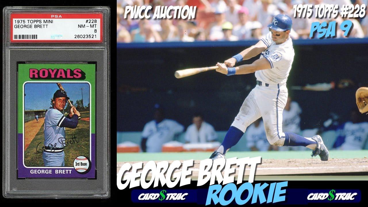 1975 George Brett Topps Rookie Card 228 For Sale Graded Psa 9