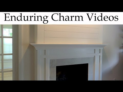 Build A Modern Mantel With Tiled Hearth
