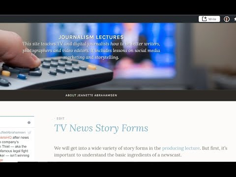 TV News Story Forms Lecture