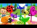 Little Baby Fun Learning Colors for Children with Bugs Wooden Gear Puzzle Toy Set for 3D Kids Edu