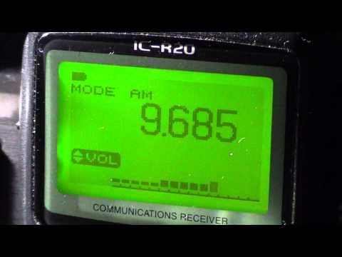 Radio Serbia on Icom IC R20 portable april 27th 2013