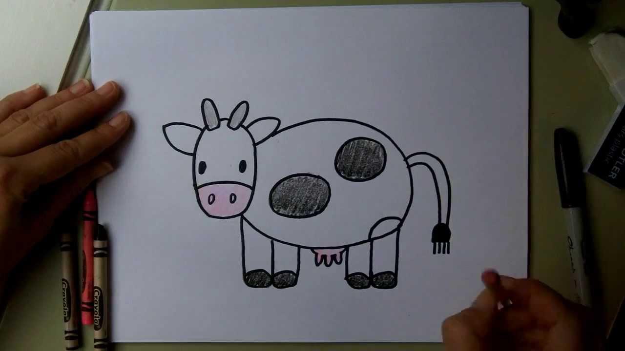 Cartoon Cows Draw Easy