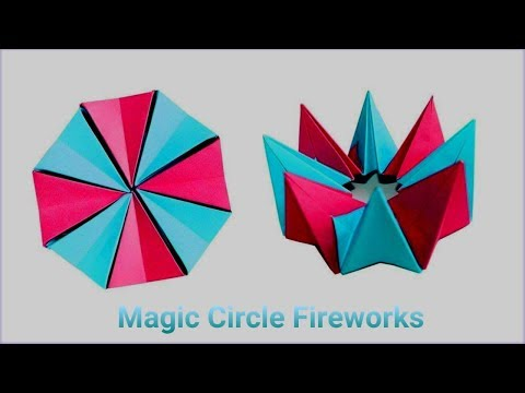 DIY How to fold an easy origami magic circle fireworks | SumansCraft