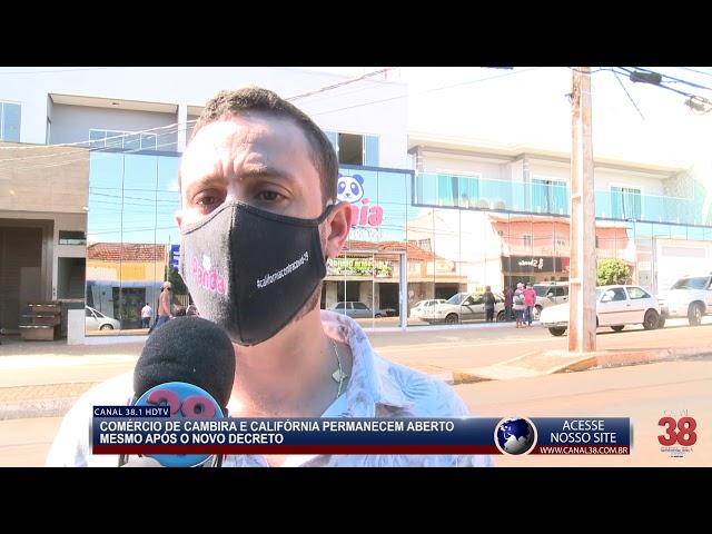 COMÉRCIO DE CAMBIRA E CALIFÓRNIA PERNAMENECEM 'ABERTOS' E JÚNIOR DA FEMAC FECHA NOVAMENTE APUCARANA