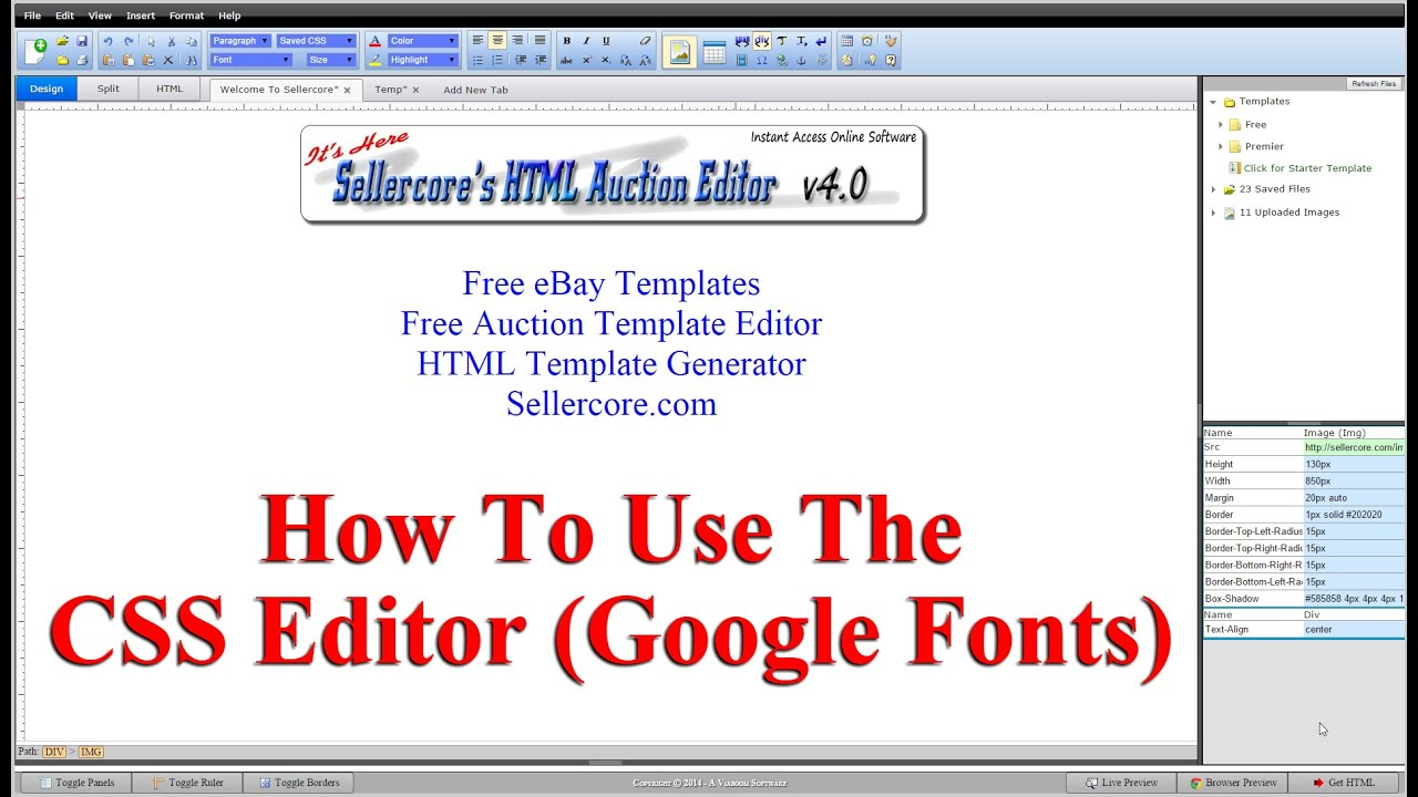 How to edit css font styles when generating free ebay templates how to edit css font styles when generating free ebay templates pronofoot35fo Image collections