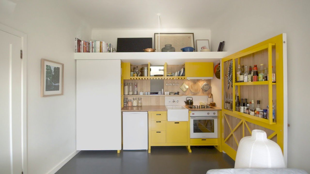 Micro Apartment Redesigned Like A Toolbox In Heritage Building