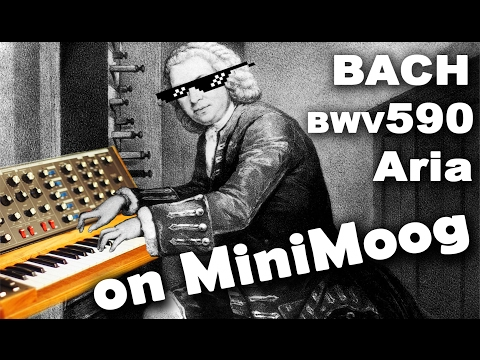 Pastorale BWV590 Aria JS Bach Minimoog Voyager Old School