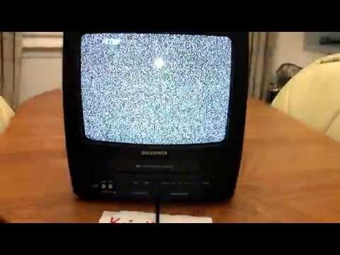 """Sylvania 6313CE 13"""" Portable TV/VCR Combo + Recording + Radio -- Remote Included"""