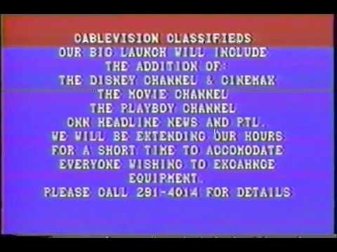 TV - New Cable Channels come to Cleveland - September 1983