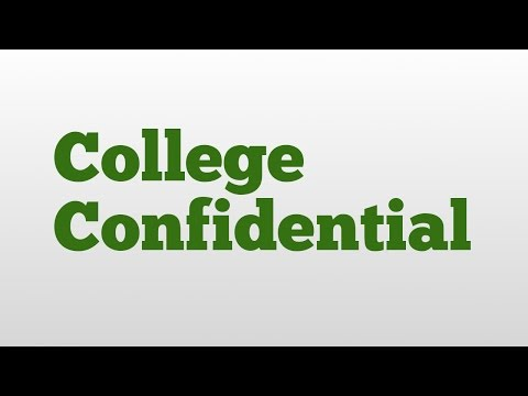College Confidential meaning and pronunciation