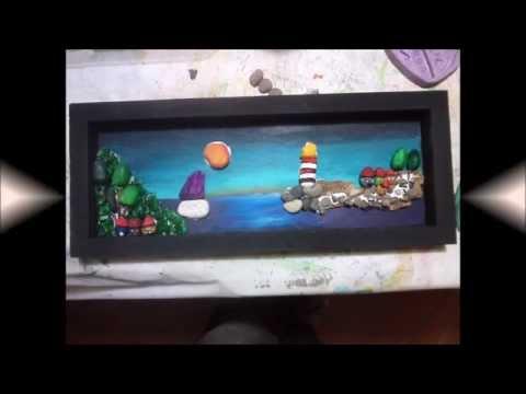 Seminario de cuadros con piedras youtube - Manualidades con cuadros ...