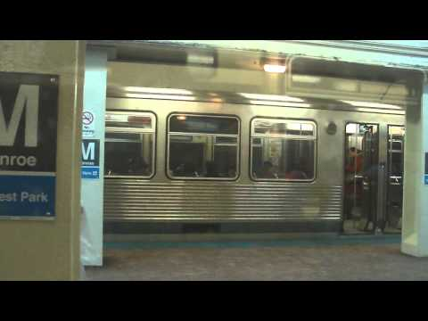 "CTA Transit: On Board: 1967 Budd Company ""L"" Blue Line Train Riding on the Long Station"