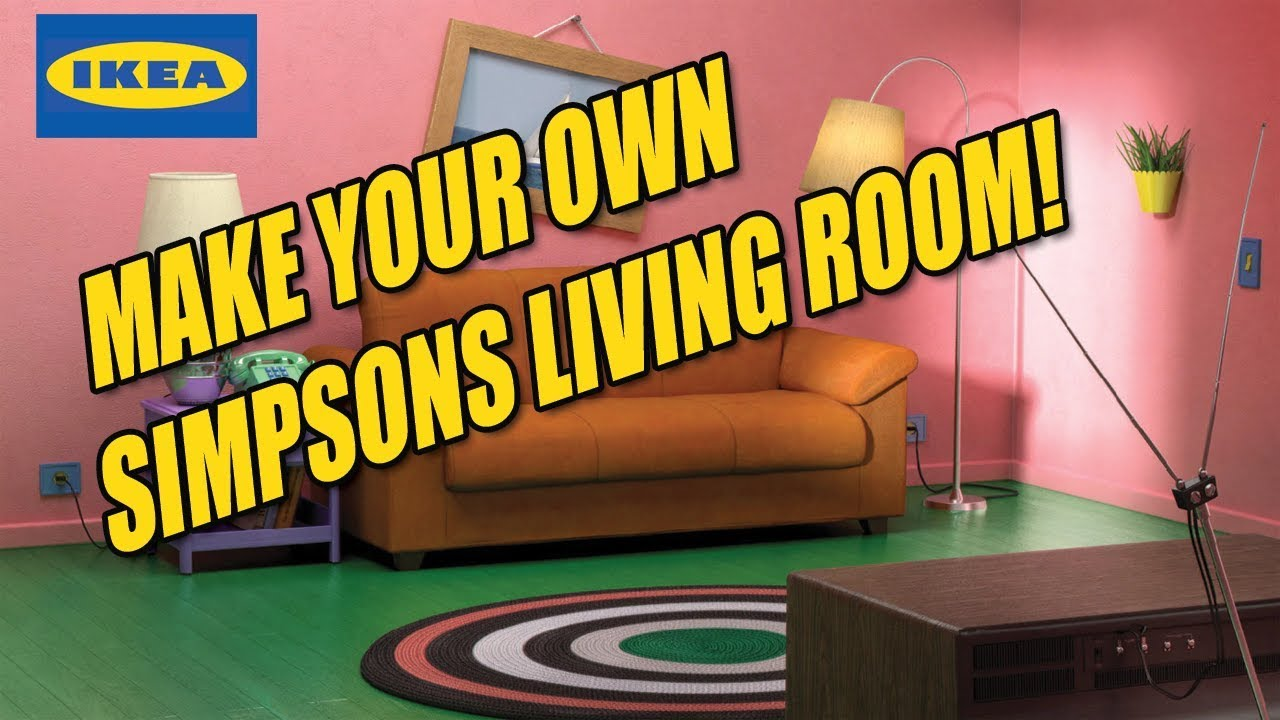Build your own Simpsons Living room with IKEA products!