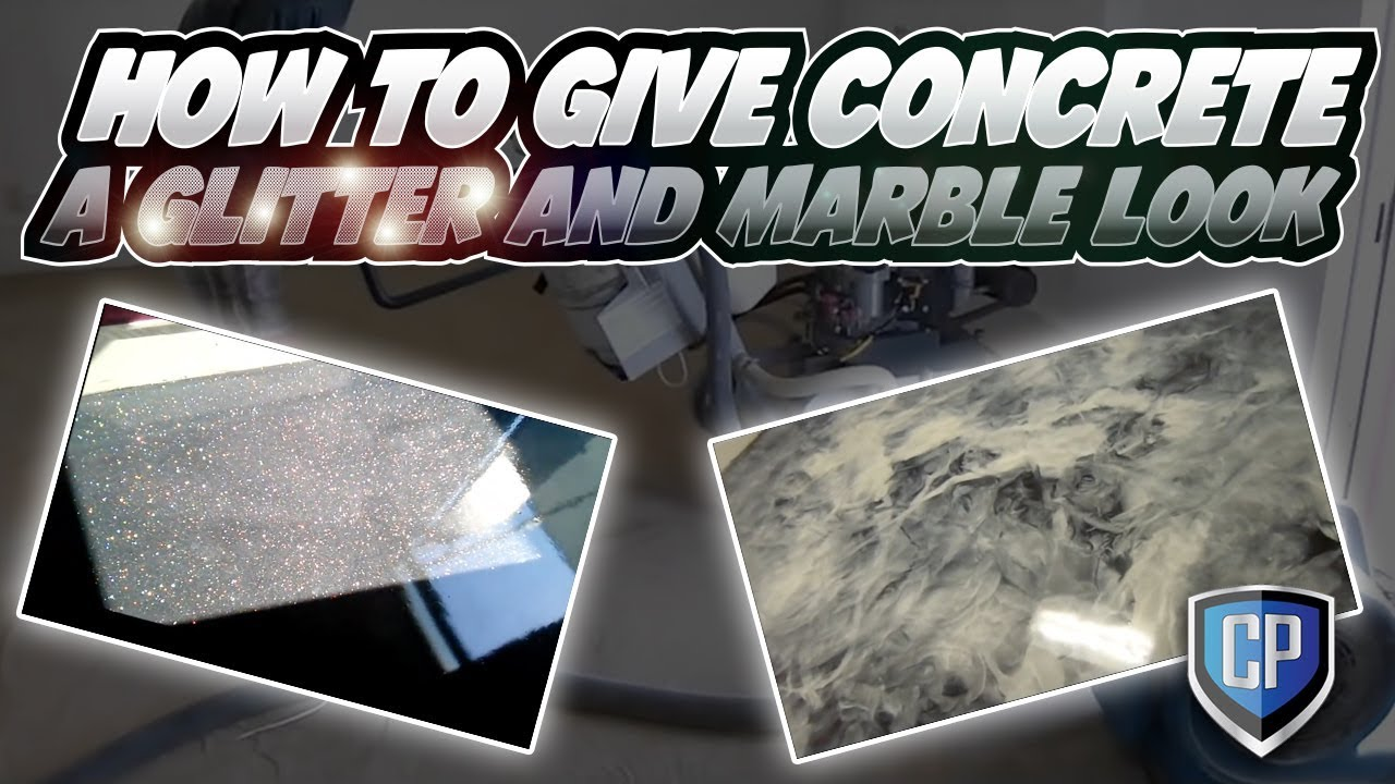 How To Give Concrete A Glitter And Marble Look Youtube