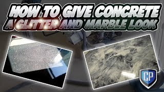 How to give concrete a glitter and marble look