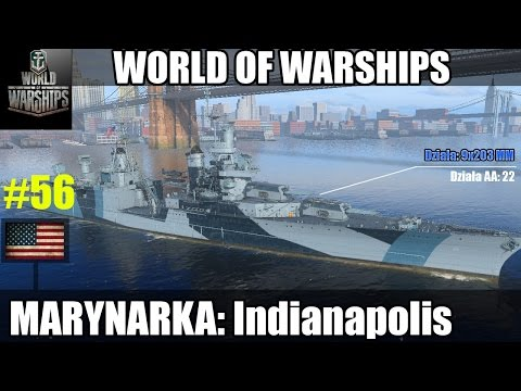 World of Warships premium - Indianapolis VII tier USA.