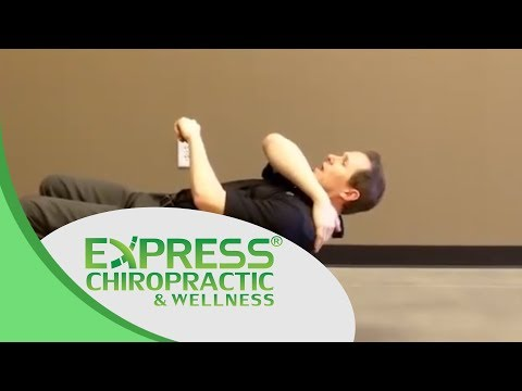 Chiropractor Keller Express Tip - Upper Body Stretching on Exercise Ball