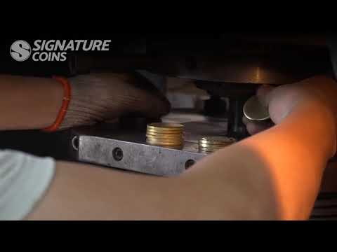Custom Challenge Coin Minting (Satisfying Machine Pressing ) - Signature Coins