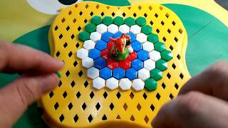 easy MOSAIC for children green BLUE white RED toys FOX and dwarf Play and PAINT