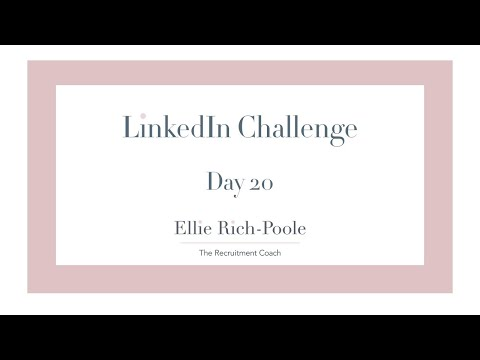 LinkedIn Challenge 20: Check your DMs - keep in touch.