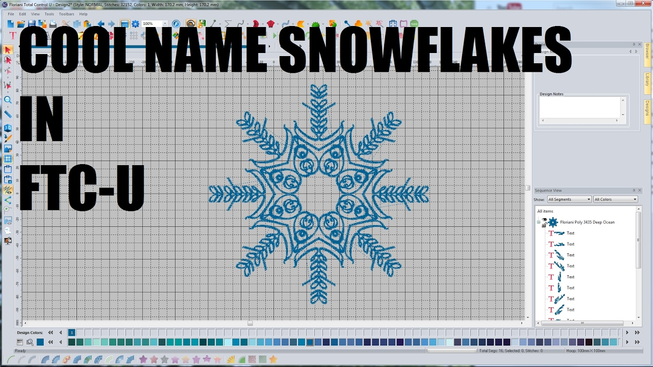 creating name snowflakes in floriani total control u youtube