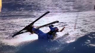Lindsey Vonn Marburg - Sturz crash accident 30.01.