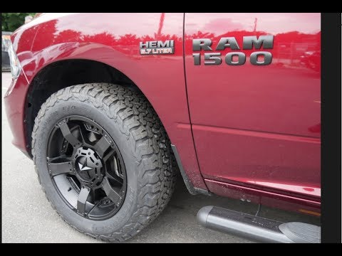 2018 RAM WITH 20 INCH KMC ROCKSTAR 2 RIMS & BFG K02 TIRES