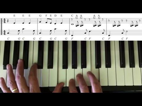 man from snowy river - easy piano tutorial