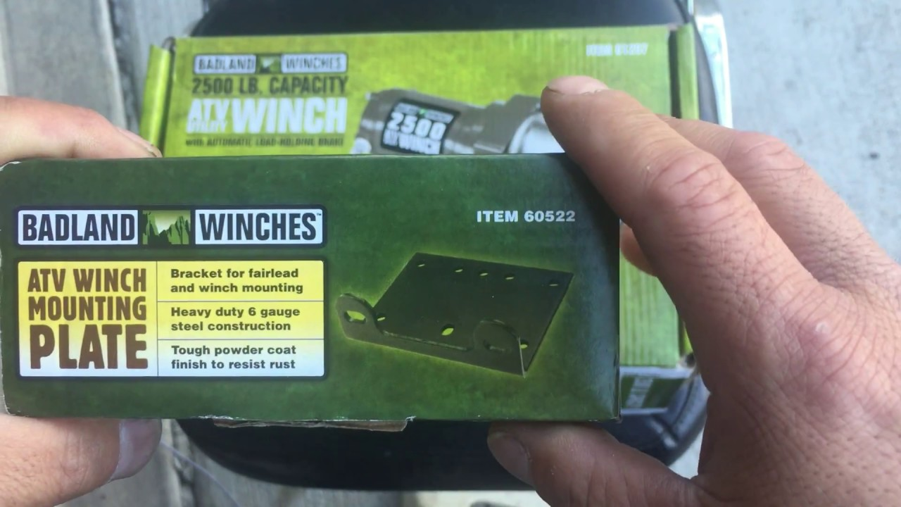 Winch Mounting Plate ATV Badland Harbor Freight Review