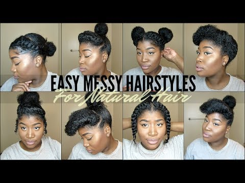 8 Quick Easy Natural Hairstyles For 4 Type Natural Hair Youtube