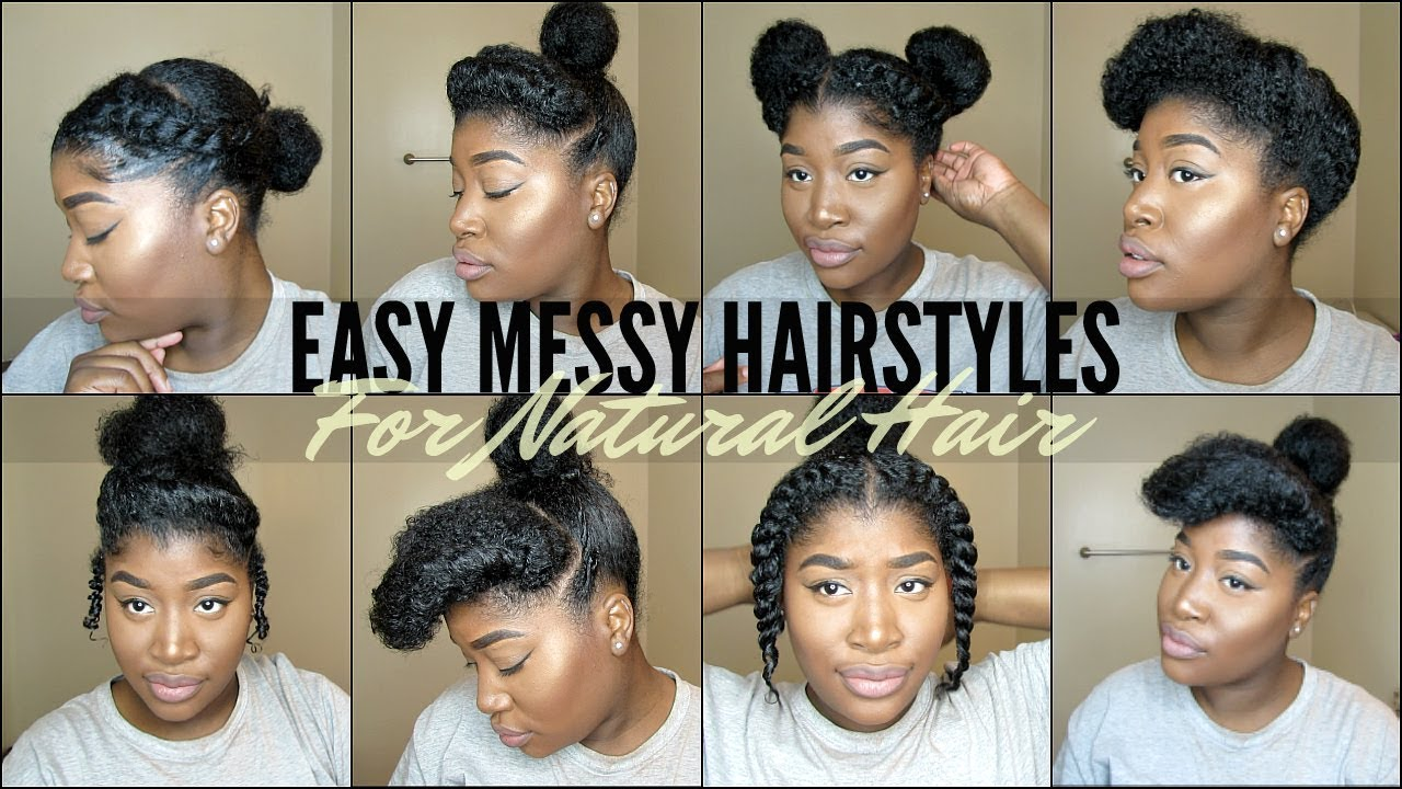 8 quick & easy natural hairstyles for 4 type natural hair