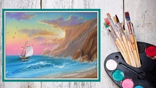 Уроки рисования! Как нарисовать морской пейзаж ПАСТЕЛЬЮ! #Dari_Art(Морской пейзаж любим многими художниками) Давайте и мы с вами создадим морской пейзаж, но не просто краскам..., 2015-08-13T13:00:00.000Z)