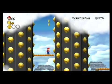 New super mario bros. Wii star coin location guide world 8-4.