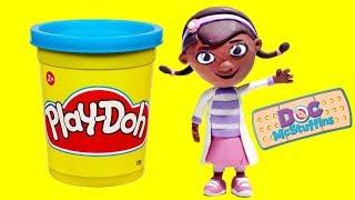 Play Doh Doc McStuffins Cartoons - Dra Juguetes Stop Motion Animations & Surprise Toys videos