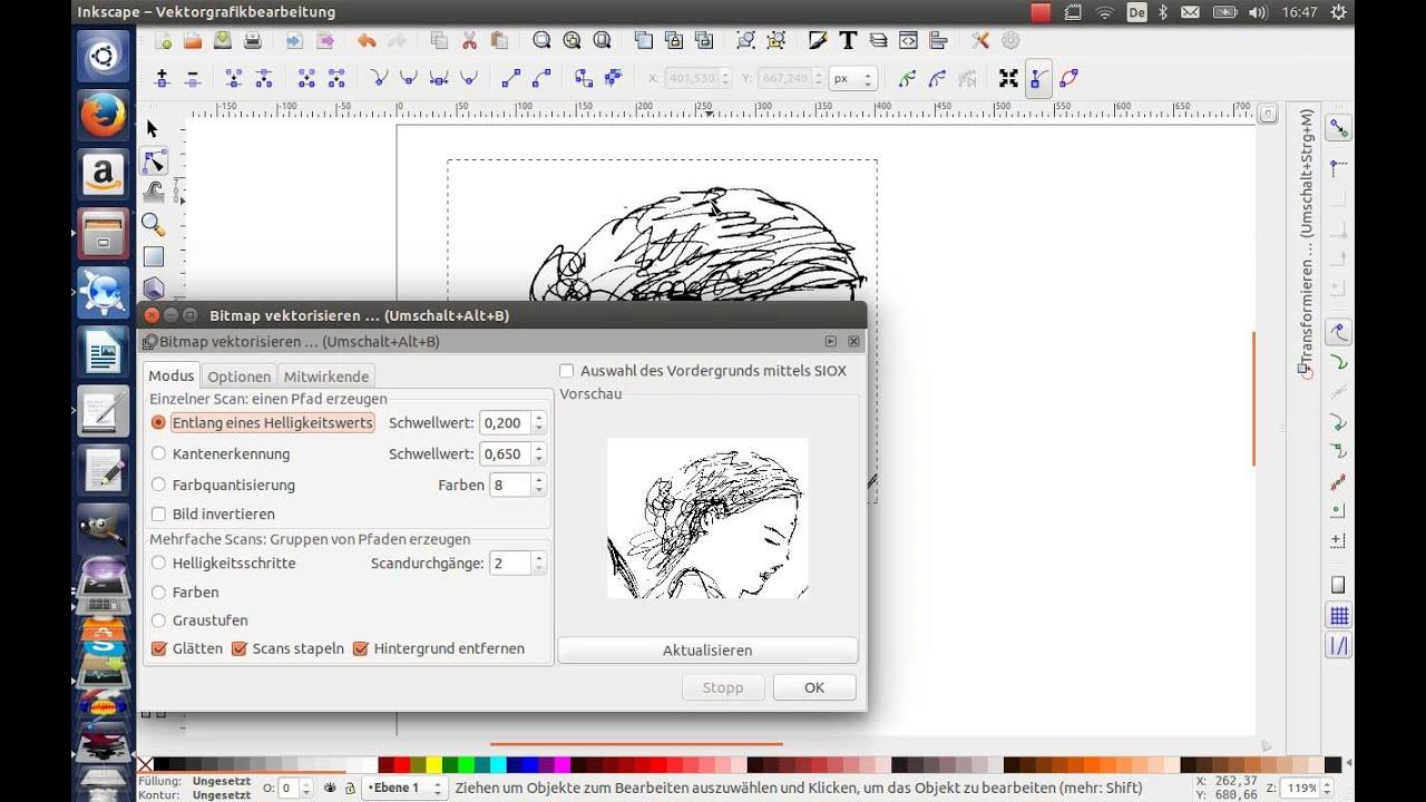 Hintergrund entfernen inkscape