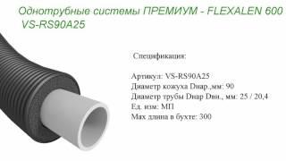 видео Предизолированные трубы Flexalen в системах