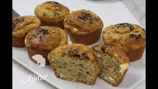 Kahvaltilik peynirli muffin Tarifi I Muffin Rezept mit Schafskäse