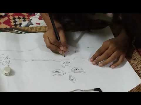 Durga maata Painting video by cute child
