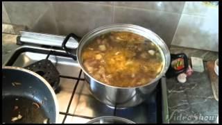 Постный картофельный суп с грибами