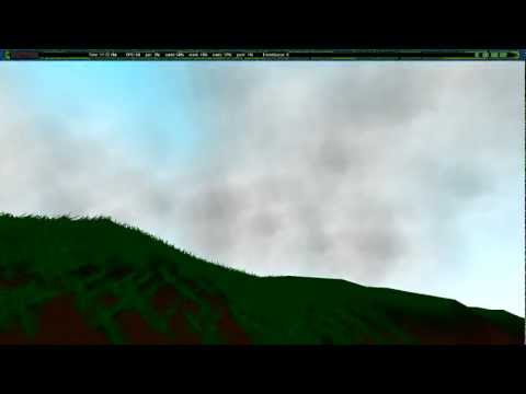 Real-Time 3D Clouds Using Spherical Billboarding - Project Free World Development Step
